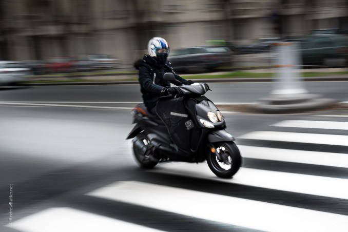 Paris motorbike pan photograph by Andrew Butler