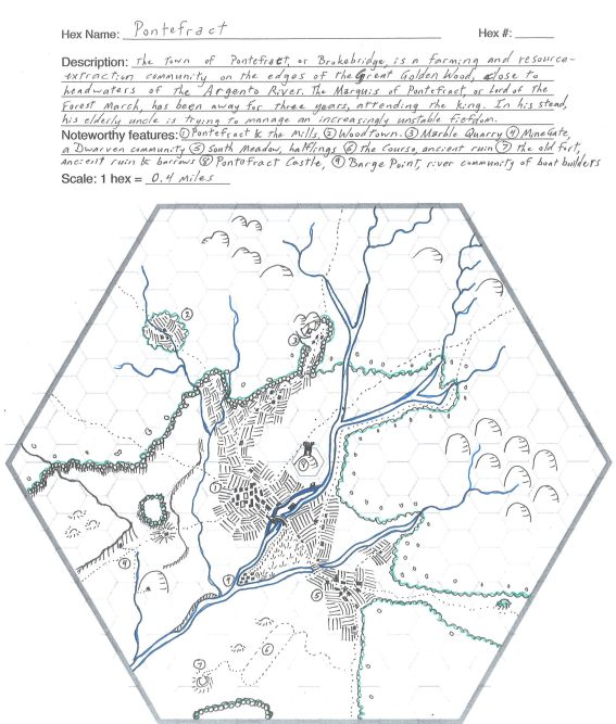 a hexagonal map and some surrounding text