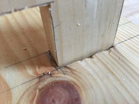does one cit the mortise larger, which roughens the wood, or shave the tenon, which weakens the joint?