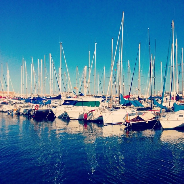 #Boats on a sunny day in #Spain