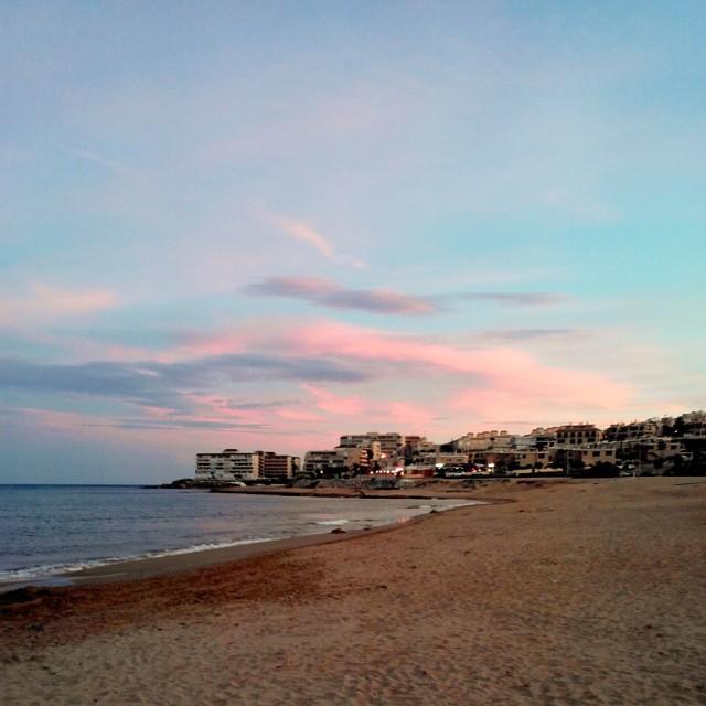 Sunset at La Mata Beach, Torrevieja, October, 18, 2014