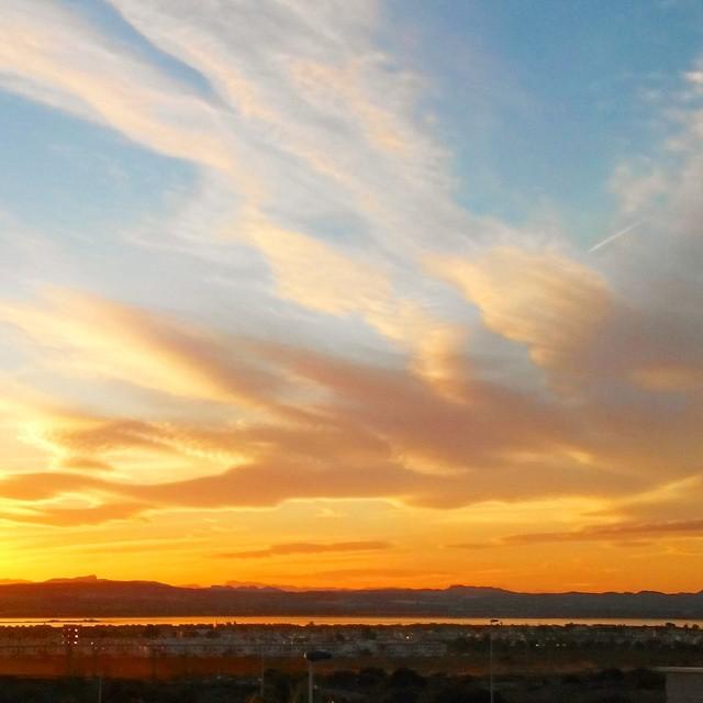 A stunning sunset over the Salina de Torrevieja. November, 24, 2014