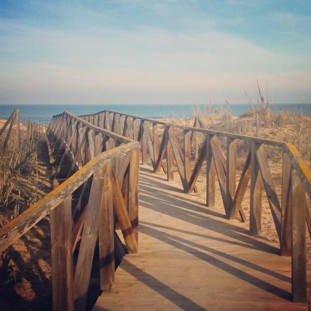 View to the Mediterranean Sea from La Mata Beach