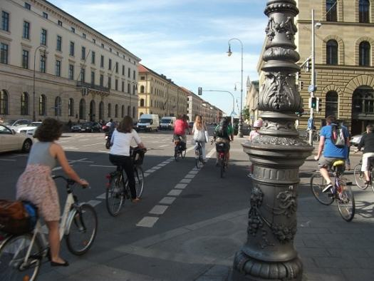 Cyclists in Munich