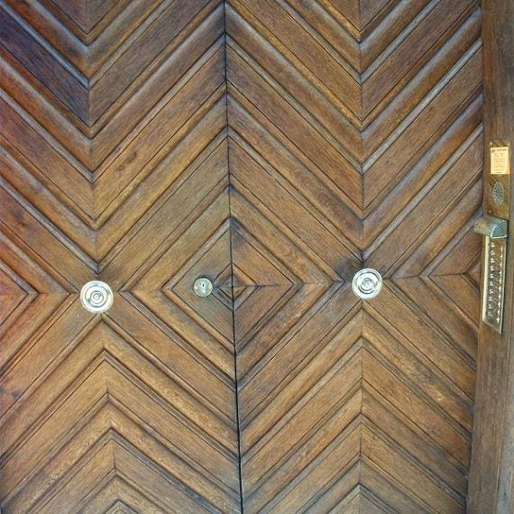 Wooden doors downstairs