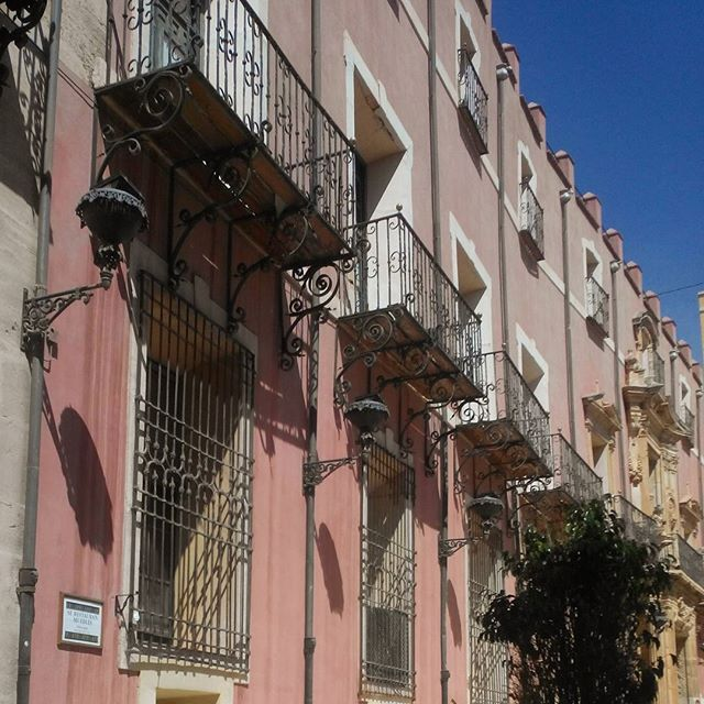 Balconies in Orihuela, Spain
