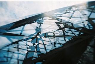 Footbridge Triple-Exposure