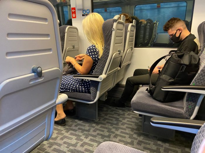 Taken as we pulled into Euston. I wasn't the only one with a vacant seat next to me.