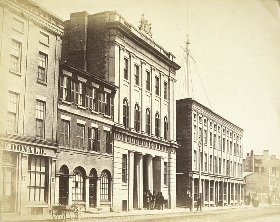 Toronto Stock Exchange in 1856. Image from Library and Archives Canada