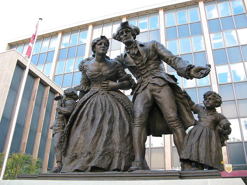 Statue of United Empire Loyalists in Hamilton, Ontario