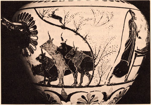 Image result for ancient Greek cow