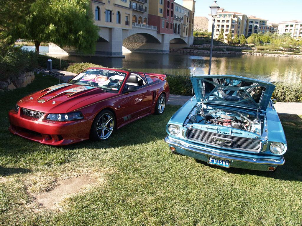 Classic Mustangs at Lake Las Vegas Car Show 2011