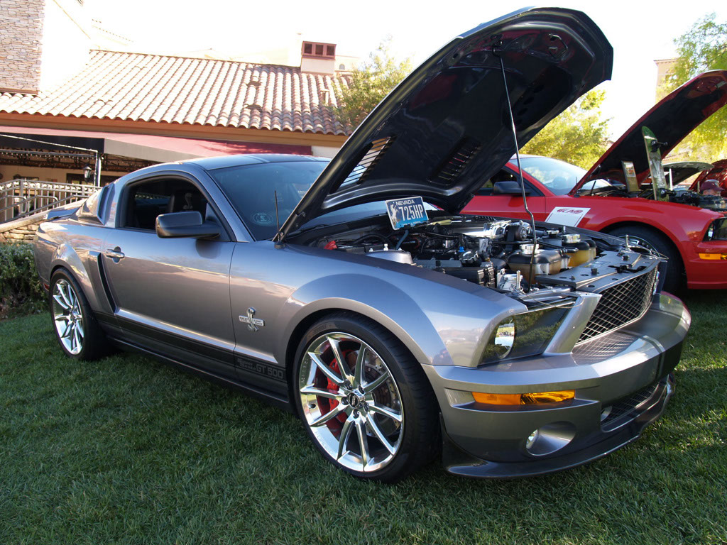 Silver Mustang at Lake Las Vegas Car Show 2011