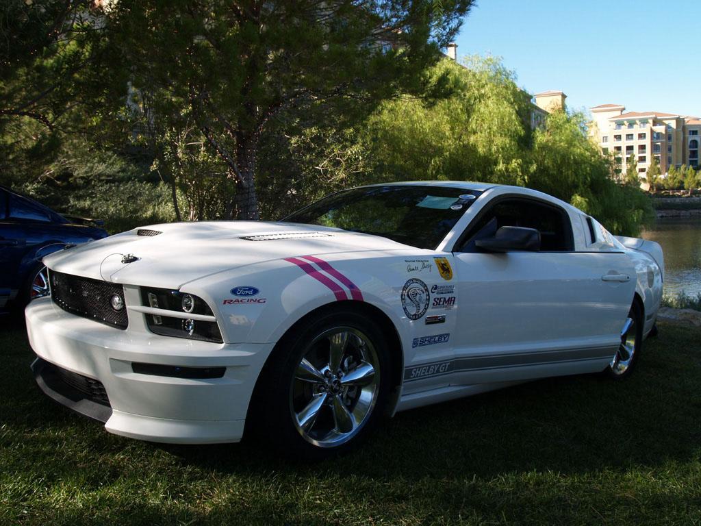 White Mustang at Lake Las Vegas Car Show 2011