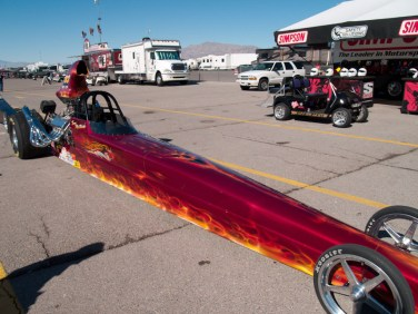 Flaming Skull Dragster