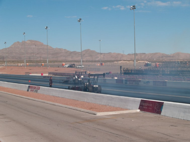 Smokin the track