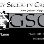 Grey Security Group Business Card Design