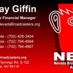 Nevada Broadcasters Business Card Design