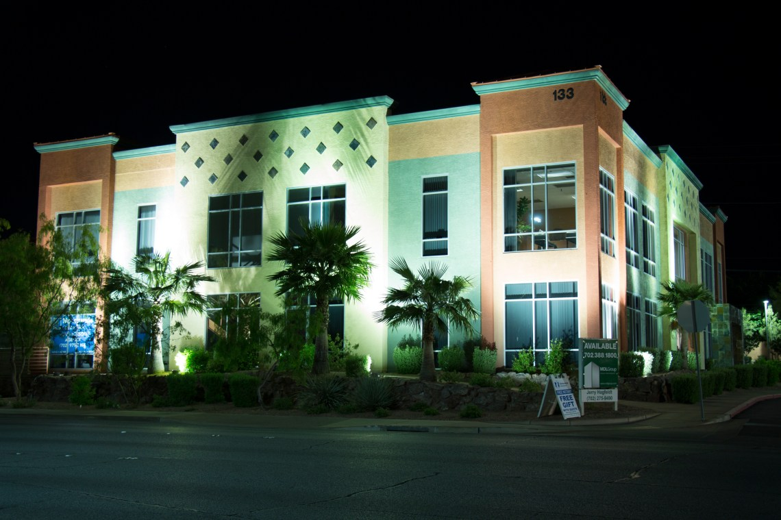 Night Photography, Floodlit Building