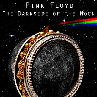 This was one of my CD covers for the Photoshop II final; for Pink Floyd's Dark Side of the Moon. I think the rainbow stands out much better in space; as do the rest of the browns and greys.