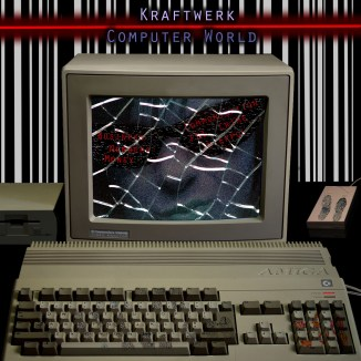 This was a CD cover for my Photoshop II final project; it is for the early German techno band Kraftwerk; I used textures to give an 80's Amiga computer more of a cyber punk crime scene feeling.
