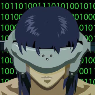 This was my midterm for Adobe Illustrator; it is a reproduction of a still of Major Motoko Kusanagi, from the Japanese animated film Ghost in the Shell.