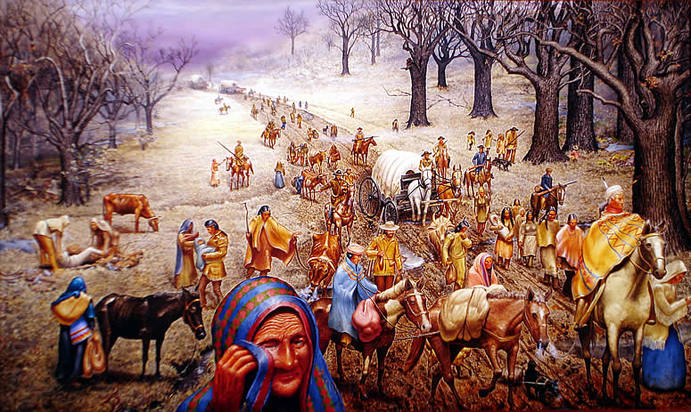 "Trail of Tears"" oil painting by Max D. Standley"