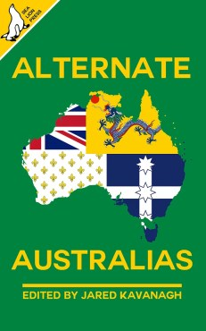 Book cover with map of Australia showing multiple symbols