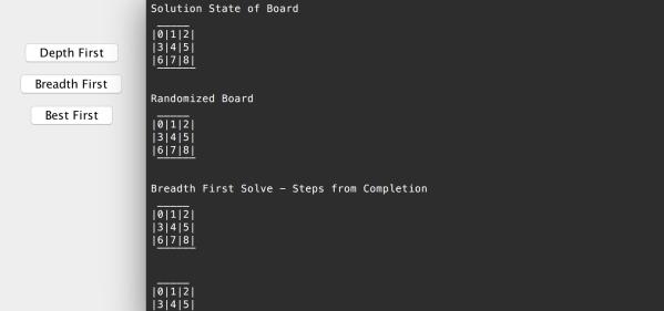 Eight Puzzle Solver