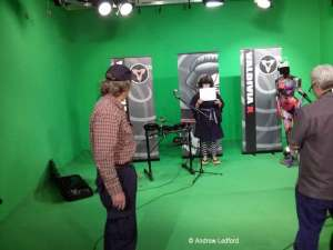 Me doing my thing as the the studio producer and director for a Music Video
