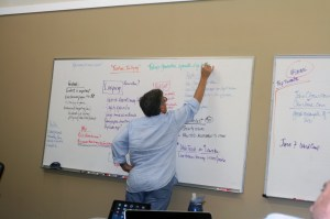 SMMOC Whiteboard Bob (Robert) Watson at the helm