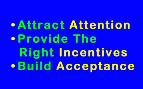 Attention - Incentives - Acceptance