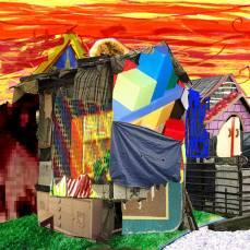 neighborhood #3, 2015Mixed Technique, Digital Collage