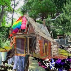 neighborhood #6, 2015Mixed Technique, Digital Collage