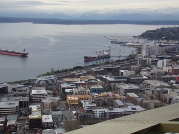 Ships docked at Elliott Bay