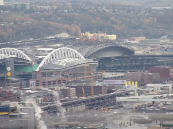 CenturyLink Field (left) and Safeco Field (right)