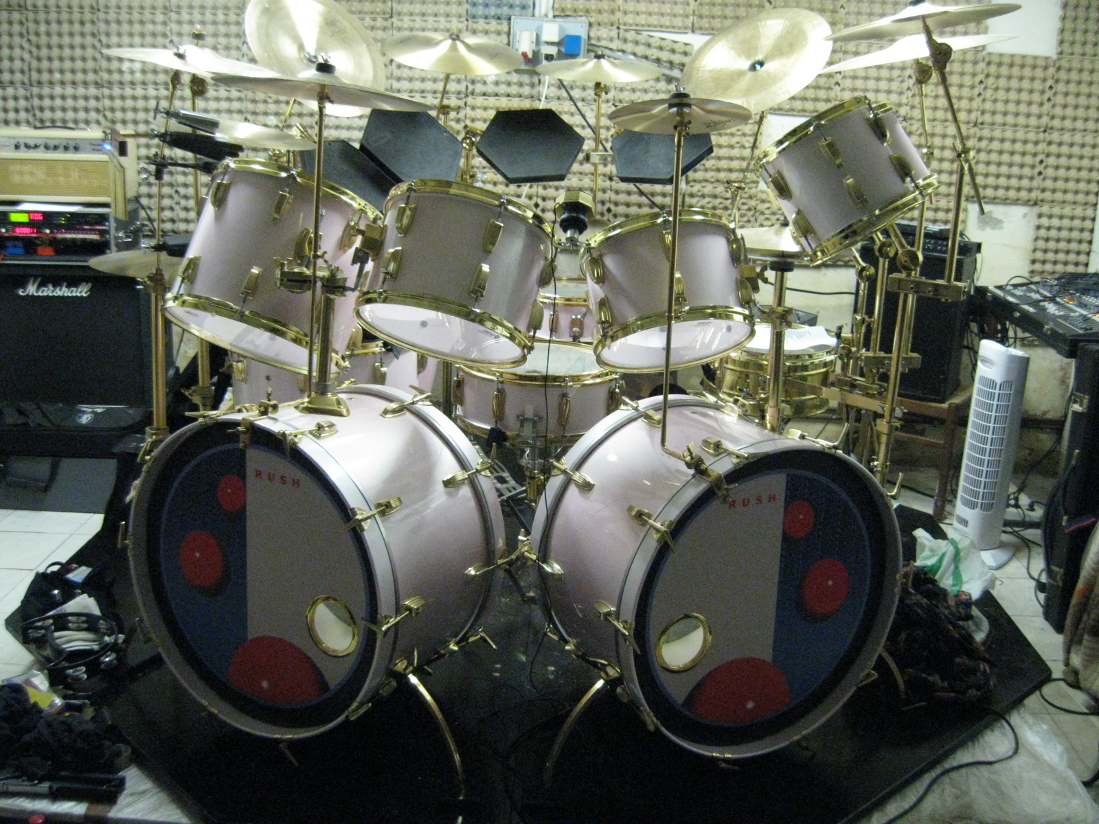 Alessandro s replica drums Alessandro Bianchini s Peart kit replicas