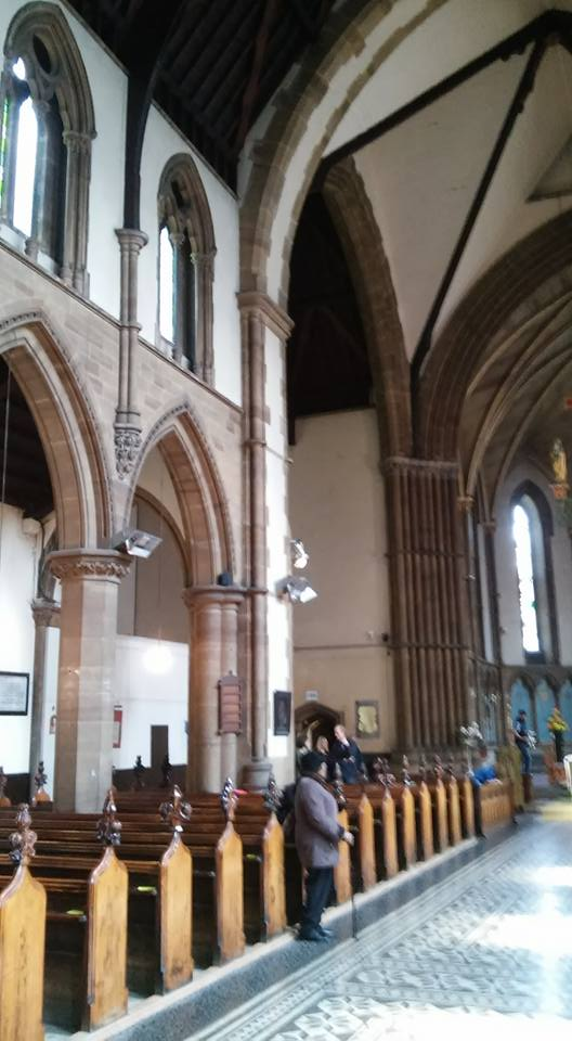 The church of St John of Jerusalem in Hackney, east London, UK; c.2016 the nave looking east