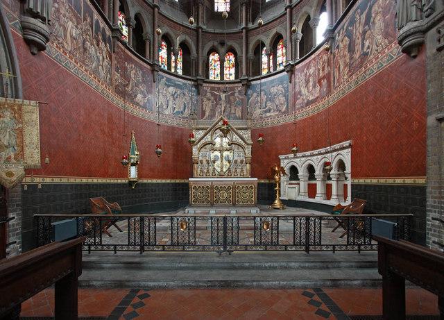 St Peter's church Vauxhall, south London, 1864; chancel, c.2015