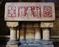 St Peter's church, Vauxhall, London; font.