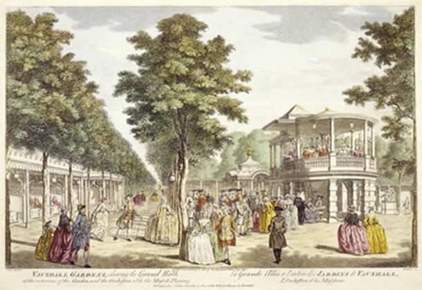 Vauxhall Pleasure Gardens, mid eighteenth century