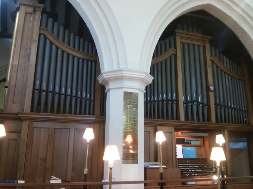 St Margaret's, Barking, south facade (1913?) in the chancel, north side