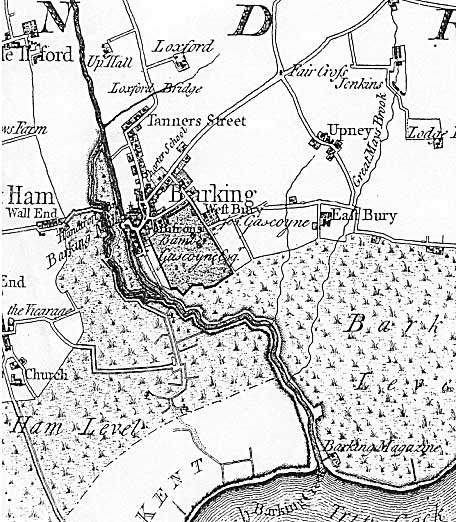 Map of Barking, 1777