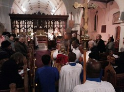 St Margaret' s Barking, chancel screen and c18 plaster ceiling