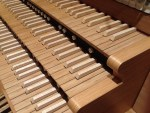 Keyboards: Andrew Pink's practice organ.