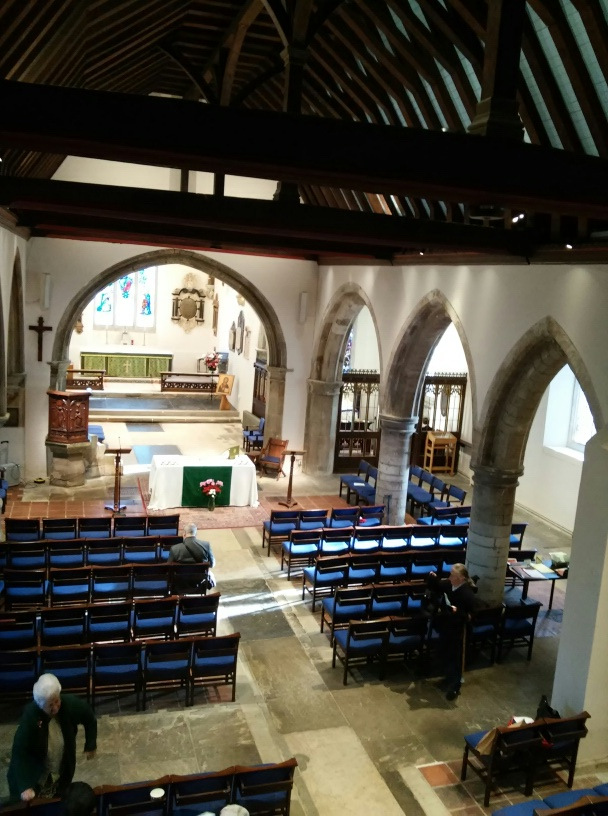 Nave, chancel, south aisle and St Katherine's chapel at St Mary's church Willsesden. ©Andrew Pink 2016