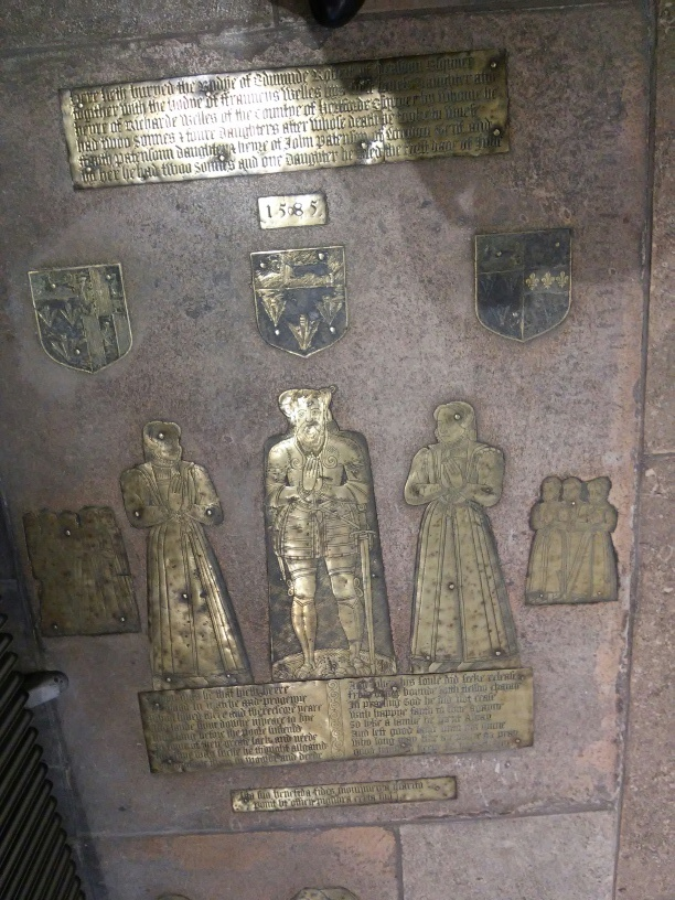 Pre-Reformation memorial brass, church of St Mary Willesden.©Andrew Pink 2016