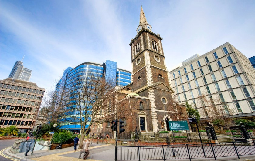Church of St Botolph-without-Aldgate, London (1741-4), c.2015