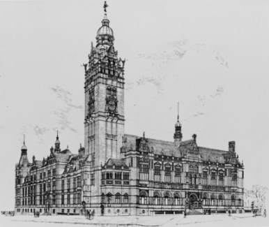 Sheffield Town Hall (1897), architect E.W. Mountford.