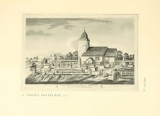 St Pancras Old Church, London NW1. The church depicted before 1815. Source: Survey of London.
